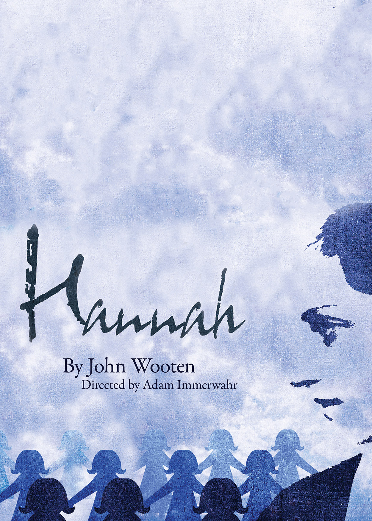 "silhouette of a woman's face. Title ""Hannah"""